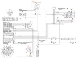 Электрическая схема системы управления двигателем (Евро-4, автомобильная часть) УРАЛ Next.