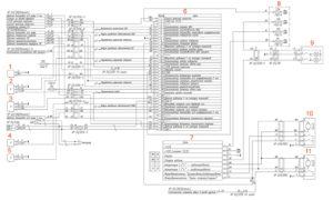 Электрическая схема комбинации приборов, центрального замка и плафона кабины УРАЛ Next.