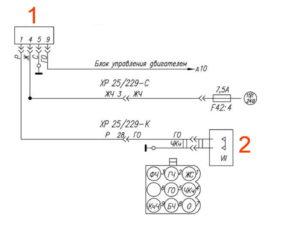 Электрическая схема моторного тормоза УРАЛ Next.