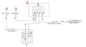 Электрическая схема фары-прожектора УРАЛ Next.