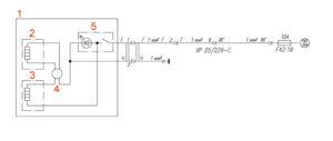 Электрическая схема обогрева сиденья водителя УРАЛ Next.