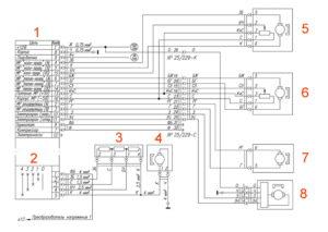 Электрическая схема отопителя УРАЛ Next.