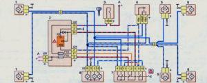 Схема включения указателей поворота и аварийной сигнализации (до 2009 г.) Шевроле Нива.