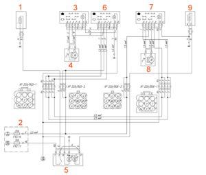 Электрическая схема электростеклоподъёмников, электропривода и обогрева зеркал УРАЛ Next.
