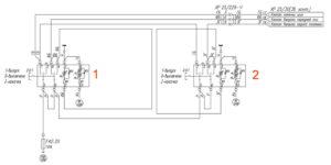 Электрическая схема подкачки шин УРАЛ Next.