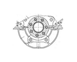Кривошипно-шатунный механизм двигателя УМЗ-А275-100.