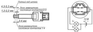 Выключатель сигналов торможения 21.3720 ГАЗель Next.
