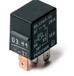 Электромагнитные реле серии 98.3747. Нумерация и назначение контактов. Характеристики.
