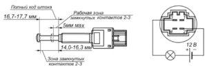 Выключатель сигнала положения педали сцепления ЫШ 3.604.072 ГАЗель Next.