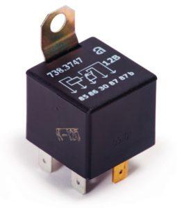 Электромагнитные реле серии 73.3747. Нумерация и назначение контактов. Характеристики.
