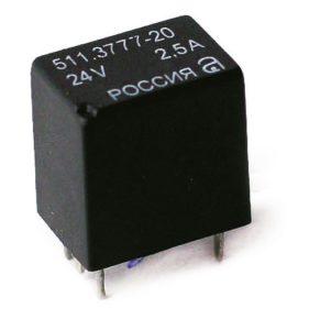 Электромагнитные реле серии 51.3777. Нумерация и назначение контактов. Характеристики.