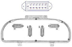Комбинация приборов 58.3801000-060 автомобилей ГАЗ Валдай с двигателем ММЗ-Д.245 (Е-2, Е-3). Распиновка.