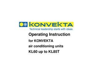 Konvekta KL60 up to KL85T Thermotronic. Operating Instruction.