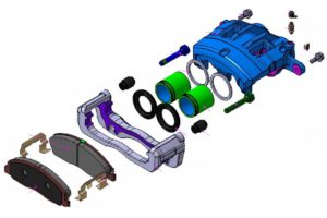 Руководство по техническому обслуживанию тормозного суппорта передних колес типа Colette Mando ГАЗель Next.