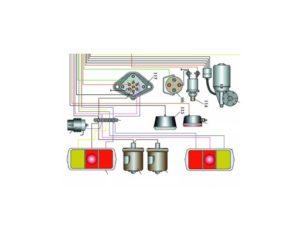 Схема электрооборудования КамАЗ-4350.