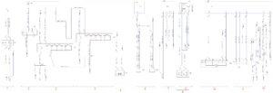 Схема соединений датчика уровня топлива, маяков, нагревателя ФГОТ, гидрозапора кабины, указателя поворота и аварийной сигнализации, ближнего и дальнего света, звукового сигнала КамАЗ-65111.