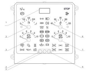 Центральный блок комбинации приборов (ЦБКП) 56.3801-03 КамАЗ. Сигнализаторы.