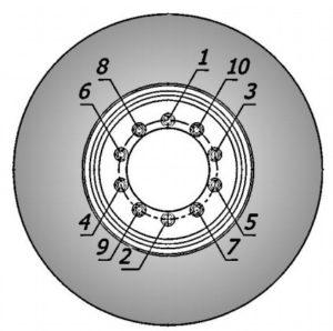 Снятие колес с автомобиля, демонтаж, монтаж шины, момент затяжки, давление воздуха КамАЗ-5490.