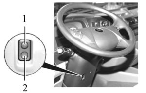 Регулирование положения рулевой колонки КамАЗ-5490.