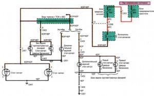 Схема подключения стоп-сигнала Chance/Sens.