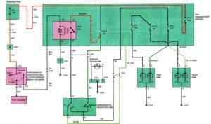 Схема подключения фар головного освещения Chance/Sens.