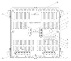 Центральный блок комбинации приборов (ЦБКП) 56.3801-03 КамАЗ. Распиновка.