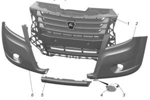 Бампер передний ГАЗель Next 4.6т. Снятие и установка.