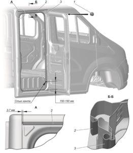 Замена уплотнителей дверей ГАЗель Next 4.6т.