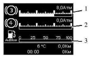 Управление информационной системой КамАЗ-5490.