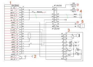 Схема электрическая принципиальная системы ЭРА ГЛОНАСС ГАЗель Next 4.6т.