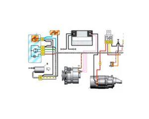 Схема электрооборудования ВАЗ-2107, ВАЗ-21072, ВАЗ-21074.