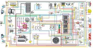 Схема электрооборудования автомобиля УАЗ-31514, -31519.