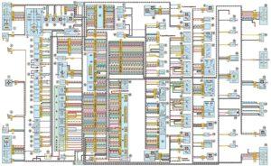 Схема электрооборудования автомобилей УАЗ Patriot выпуска до 2007 года.