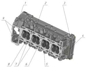 Кривошипно-шатунный механизм двигателей ЗМЗ–409051.10 и ЗМЗ–409052.10 («ZMZ PRO»).