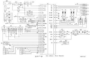 Схема электрическая функциональная ЭСУД с контроллером МИКАС-11/Евро-З Для УАЗ-220695 (ЗМЗ-40 91.10).