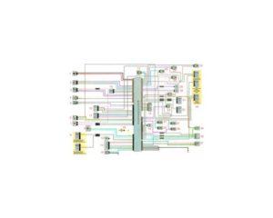 Схема системы управления двигателем 2.0 Рено Дастер 2017 год.