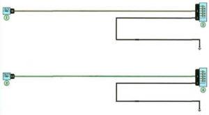 Схема дальнего и ближнего света фар Рено Дастер с 2011 года.