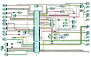 Схема системы управления двигателем Рено Дастер с 2011 года (F4R).