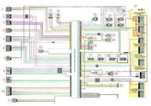 Схема системы управления двигателем 1.6 Рено Дастер 2017 год.