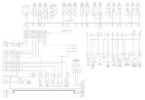 Схема электронной системы управления двигателем Mercedes OM501LA V/5 (двигатель) МАЗ-5440E9, 5340E9, 6310E9, 6430E9.