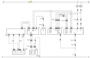 Схема системы экстренного торможения и слежения за дорожной разметкой МАЗ-5440.
