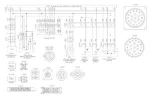 Схема электрооборудования пневмоподвески (ECAS) МАЗ-5440E9, 5340E9, 6310E9, 6430E9 с двигателем Mercedes OM501LAV/4 (Евро-5).