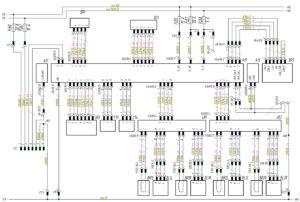 Схема системы управления EBS Wabco МАЗ-5440.