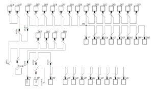 Схема подсветки приборов МАЗ-5440.