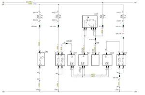 Схема подключения датчика уровня топлива, подогрева топлива МАЗ-5440.