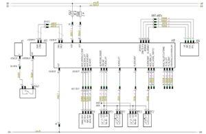 Схема системы управления пневмоподвеской ECAS Wabco МАЗ-5440.