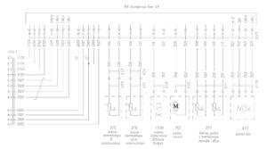 Схема электронной системы управления двигателем Mercedes OM501LA V/5 (система впрыска аммиачного раствора SCR) МАЗ-5440E9, 5340E9, 6310E9, 6430E9.