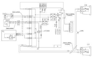Схема подключения задних противотуманных фонарей МАЗ-5440E9, 5340E9, 6310E9, 6430E9 с двигателем Mercedes OM501LAV/4 (Евро-5).