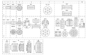 Расположение контактов в разъёмах МАЗ-5440E9, 5340E9, 6310E9, 6430E9 с двигателем Mercedes OM501LAV/4 (Евро-5).