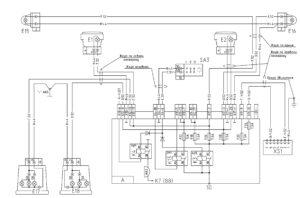 Схема включения габаритных огней и резервного реле МАЗ-5440E9, 5340E9, 6310E9, 6430E9 с двигателем Mercedes OM501LAV/4 (Евро-5).